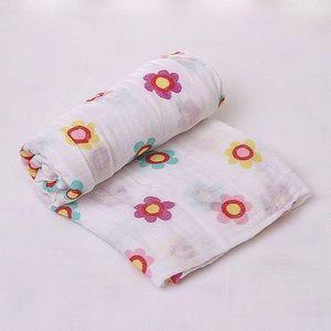 100% Cotton Muslin Swaddle Blanket-Girls